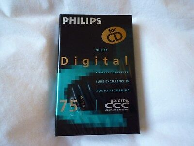 DCC Philips 75 minute brand new and sealed blank Digital Compact Cassette