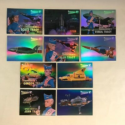 THUNDERBIRDS 50 YEARS by GERRY ANDERSON 2015 Complete MIRROR FOIL Chase Card Set
