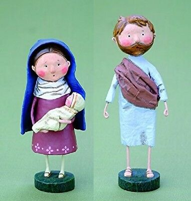 ESC Trading Lori Mitchell Christmas Mary & Baby Jesus 38228 and Joesph 38229