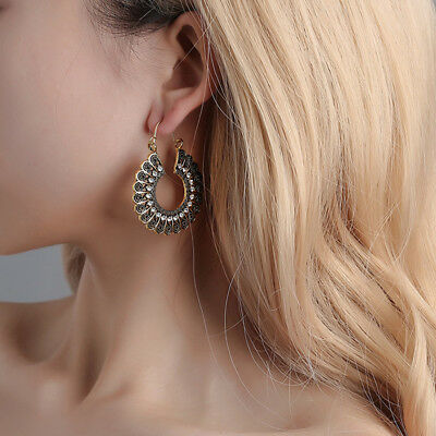 Boho Styles Women Vintage Silver Color Long Drop Earrings Jewelry Accessories S