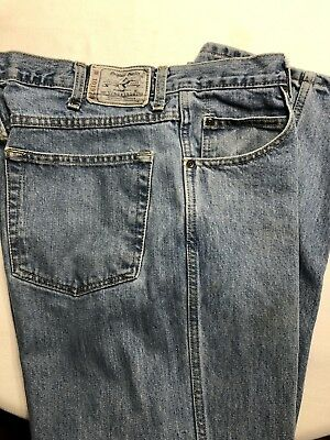 Mens Bass Pro Shop RedHead Zipper fly Faded Denim Blue Jean Pants Size 36-30