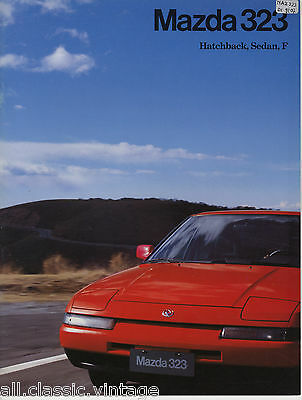 MAZDA - 323 prospekt/brochure/folder Dutch 1992