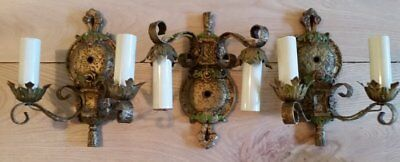 3 Exceptionally Nice, Matching 100 Year Old Sconces