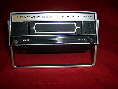 Vintage Lear-Jet Stereo-8 Model P-519 Solid State Portable 8-Track Tape Player