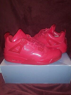 new arrival 96e6a d4048 Pre-Owned Size 13 Air Jordan Retro 11Lab4 Red 719864-600 Triple Patent  Leather