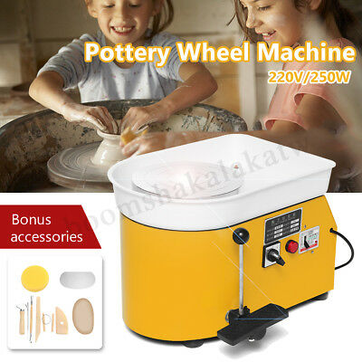 235MM Art Ceramic Clay Work Smooth Pottery Wheel Machine Foot Pedal 250W