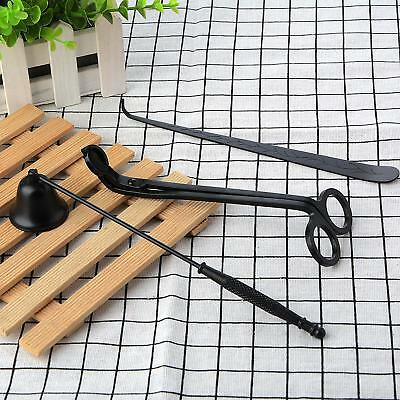 AU 3pcs Stainless Steel Scissor Wick Trimmer Snuffer Extinguish Candle Tools Set