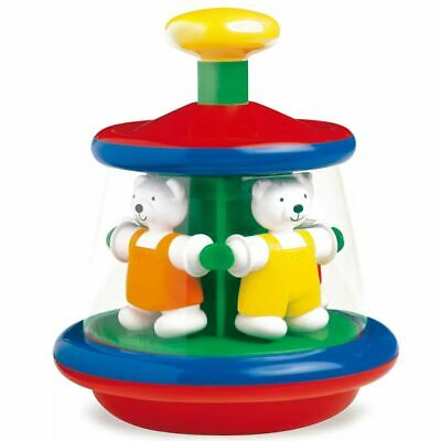 Ambi Toys Toddler Merry-Go-Ground Toy Humming Top Ted and Tess Carousel 3931163