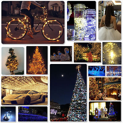 20/30/40/50/100 Led Micro Wire String Fairy Party Xmas Wedding New Year Light