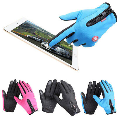 Unisex Waterproof Winter Sports Warm Thermal Ski Snow Snowboard Zipper Gloves