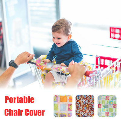 Kids Supermarket Shopping Cart Seat Cover Anti-dirty High Chair Cover Foldable