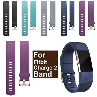 Fitbit Charge 2 Silicone Band Replacement Wristband Watch Strap Bracelet CA SALE