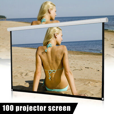 "100"" Movie Projector Screen 16:9 Projection HD Home Theater Portable Foldable LK"