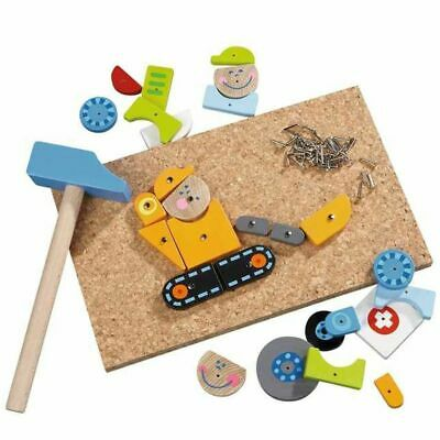 HABA 27 Piece Tap Tap Art Set Kids Wooden Puzzle Jigsaw Toy Gift On Duty 002369