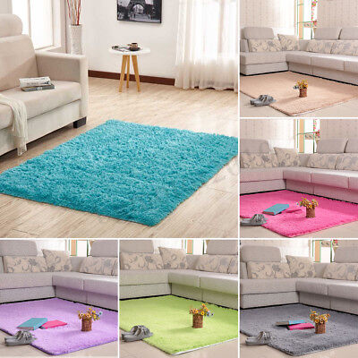 Shag Rug Modern Soft Anti-Skid Fluffy Solid Area rugs All Colors Shaggy 5 x 3FT