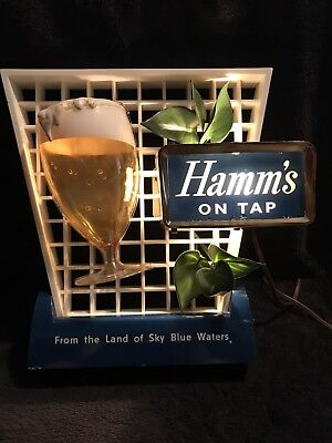 VTG Hamm's Beer Sign With Goblet and Leaves Land of Sky Blue Waters Form 180
