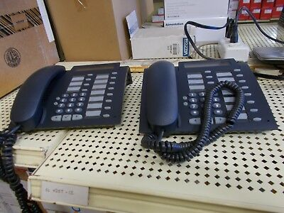 Lot of (2) Siemens Optipoint 500 Standard  Display Phone Gray S30817 3100