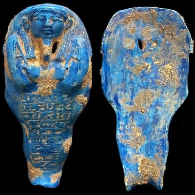 EGYPTIAN HIEROGLYPHIC SHABTI, LATE PERIOD 664 - 332 BC (9) Over 14cm Tall !!!!!!
