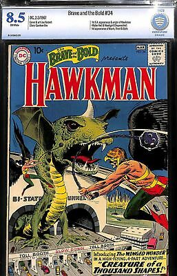 Brave And The Bold #34 Cbcs 8.5 1St Silver Age  App Origin Hawkman Not Cgc