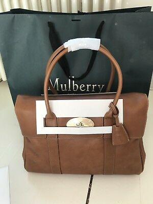 126f895f1e06 BRAND NEW MULBERRY Heritage Bayswater Oak Natural Leather Bag ...
