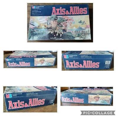 Axis and Allies Vintage Board Game 1984 Milton Bradley - Complete game