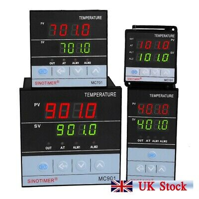 Digital PID Temperature Controller Universal Input Thermostat Sensor SSR&Relay