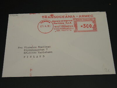 Italy 1981 meter cover to Finland *17304