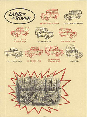 Mint! 1965 Land Rover 88 /108 Series Sales Brochure USA