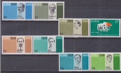 Ireland Eire.  Easter Rising Signatories, 8 MNH Stamps.
