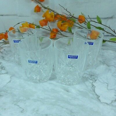 Vintage Waterford Marquis Brookside Set of 4 Double Old Fashioned Cups NEW