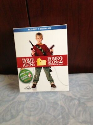 Home Alone/Home Alone 2 blu ray with target exclusive knit hat sealed