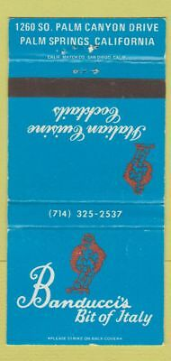 Matchbook Cover - Banducci's Bit of Italy Palm Springs CA WEAR 30 Strike
