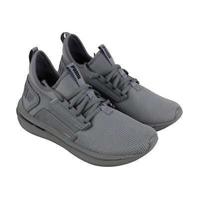 c36710380b8 Puma Ignite Limitless Sr Mens Gray Textile Athletic Lace Up Running Shoes