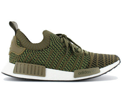6915082aacb Adidas Nmd R1 Stlt Pk Primeknit Men s Boost Trainers Shoes Olive Green  CQ2389