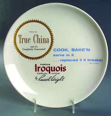 Iroquois ADVERTISING SIGNS Russel Wright Dinner Plate 7303321