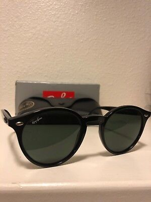 1083640928 Ray Ban RB2180 601 71 Black Frame Green Classic 49MM Lens Round Sunglasses
