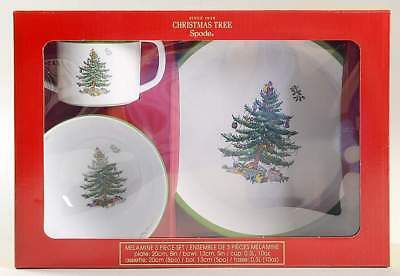 Spode CHRISTMAS TREE 3 Piece Melamine Child Set 10843141