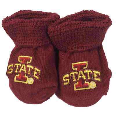 Iowa Staat Cyclones Two Feet Ahead Kleinkind Baby Neugeborenes Purpurrot Socken