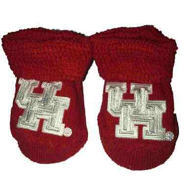 "Houston Cougars Two Feet Ahead Kleinkind Baby Neugeborenes Rot "" Uh "" Logo"