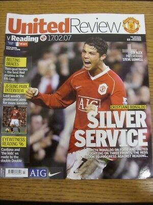17/02/2007 Manchester United v Reading [FA Cup] . Any faults with this item shou