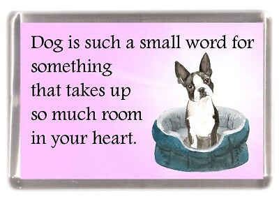 "Cairn Terrier Dog Fridge Magnet /""Dog is such a small word..../"" by Starprint"