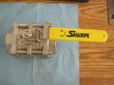 "Sharpe Model: CF8M Stainless Steel Ball Valve. 1½"" Unused Old Stock. No Box <"