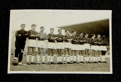 Photo Dedicace Originale Luciano Equipe Ogc Nice Coupe Europe Real Madrid 1960