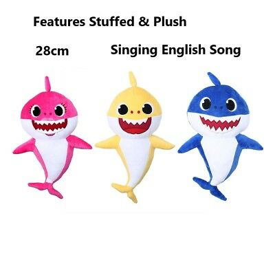 Pinkfong Baby Shark Official Singing Plush Music Doll English Song 3000 Play 3Y
