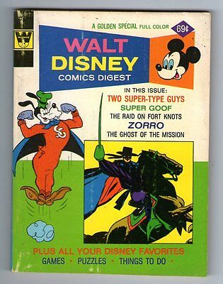 WALT DISNEY COMICS DIGEST : 52 :  Zorro  cover and story   Whitman Variant