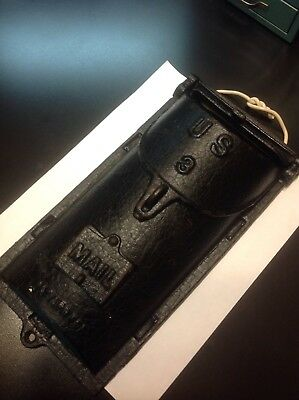 Early Patent Applied For CAST IRON No.3 MAILBOXANTIQUE PEEPHOLE W/ COVER