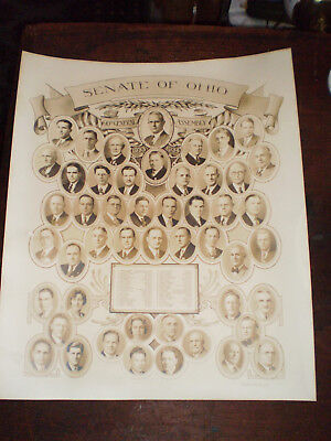 1934 90th General Assembly OHIO Senate Photo Vignettes of All Members With Names