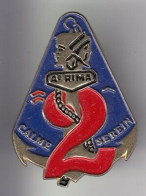 Rare Pins Pin's .. Armee Army Marine Troupes Corps Ancre Devise 2E  Rima  ~Dx