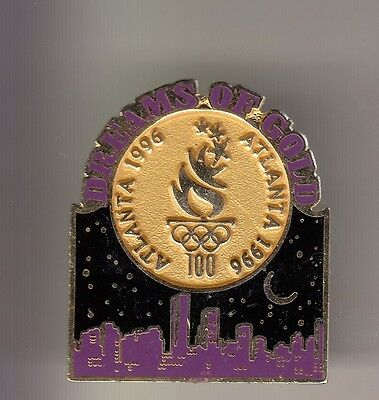 Rare Pins Pin's .. Olympique Olympic Jeux Atlanta 1996 Dreams Medaille Gold ~16