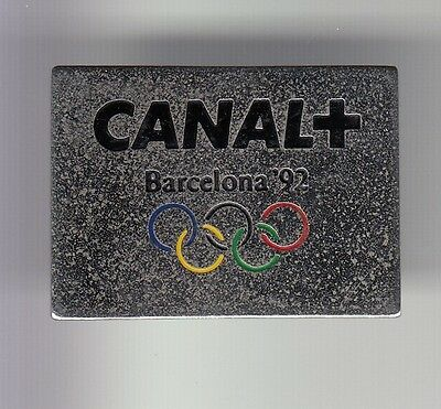 Rare Pins Pin's .. Olympique Olympic Jeux Canal+ Tv Presse Barcelone 1992~17